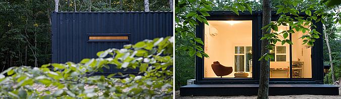 Judit bellostes dos contenedores para un estudio container art studio estudio de arquitectura - Container art studio ...