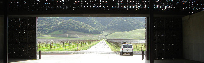 arquitectura, piedra y acero - dominus winery