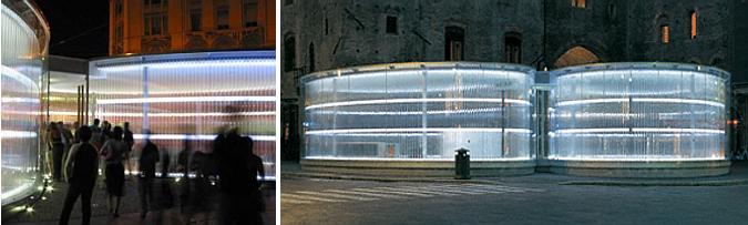 leds, vidrio y plexiglás - eBO exhibition pavilion