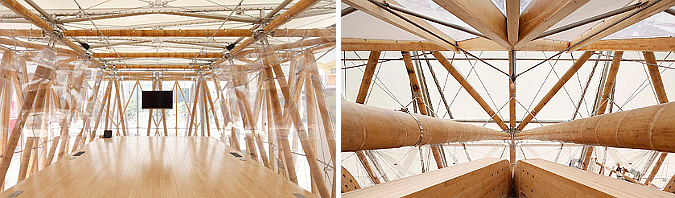arquitectura y bambu - german chinese house, shanghai expo 2010
