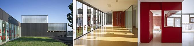 de vidrio y de zinc – guardería municipal en Ávila