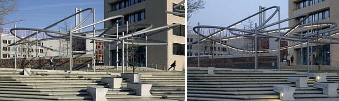 garabatos de acero - hafencity, public spaces