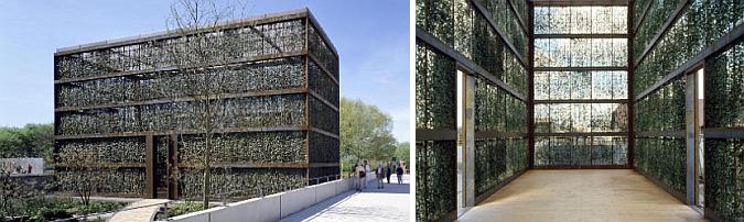 el pabellón de la hiedra - hedge building