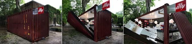Container, casa o cafetería itinerante