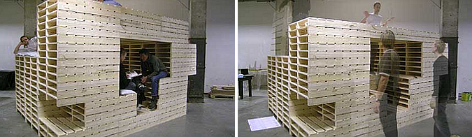 casa instantánea - instant house, pallet installation