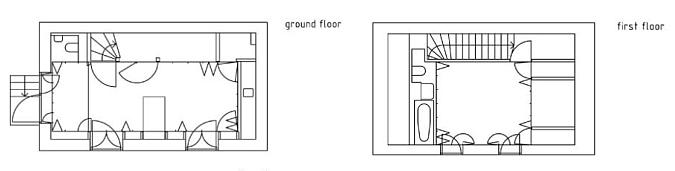 Baño Bajo Escalera Planos:Mientras que en la planta piso (azul cielo), en tormo al espacio