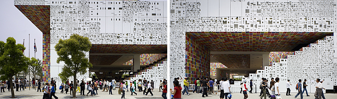 códigos gráficos - korean pavilion, shanghai expo 2010
