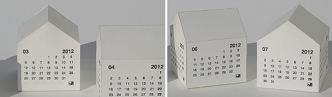 la casa de los días, calendario 2012 - the house of the days, 2012 calendar