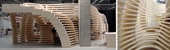 Judit bellostes cavidades de madera lignum pavilion for Pabellones arquitectura efimera