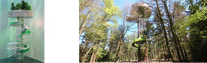 un sendero en el bosque - forest tower