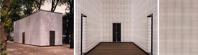 pabellón translucido - museum pavilion