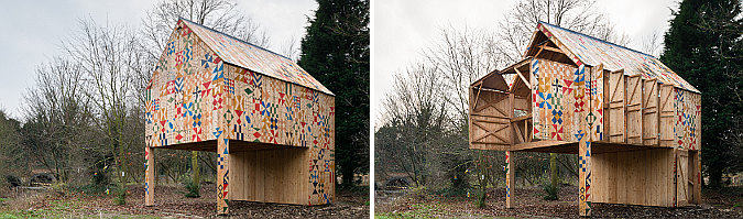 madera estampada - ecology of colour pavilion