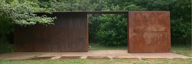 arquitectura y acero cortén - pabellón 2x1