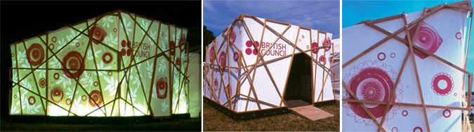 Arquitectura efímera - glastonbury british council pavilion