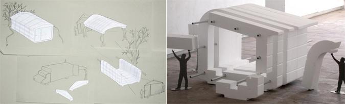 Polystyrene house by Ronan & Erwan Bouroulec