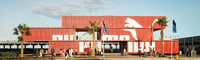 containers, regatas y compras - puma city