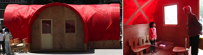 refugio de emergencia - red housing, emergency shelter