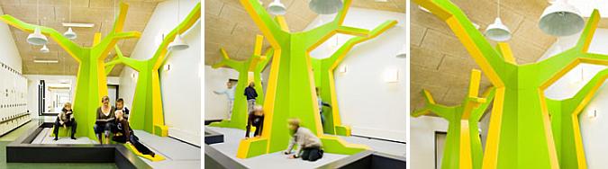 en la escuela han crecido árboles de colores - søgård school