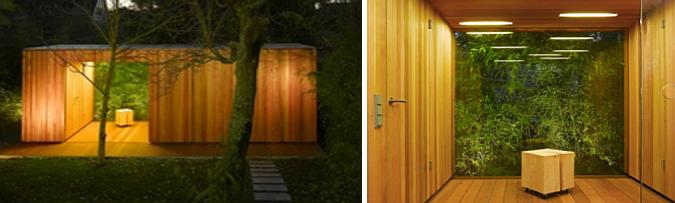 sauna de jardín -
