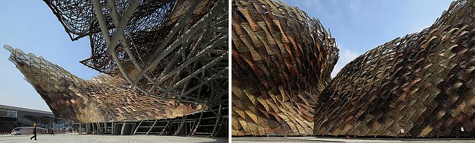 escamas de mimbre  - spanish pavilion, shanghai expo 2010