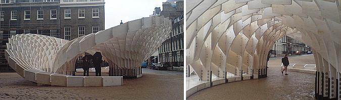 remolinos de madera - swoosh pavilion