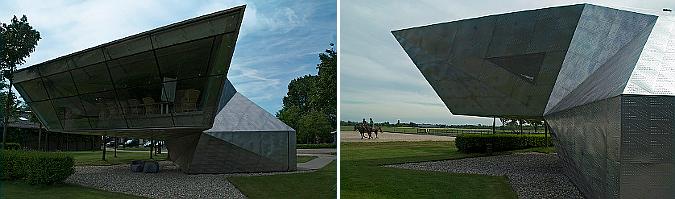 origami de acero - tea house on bunker