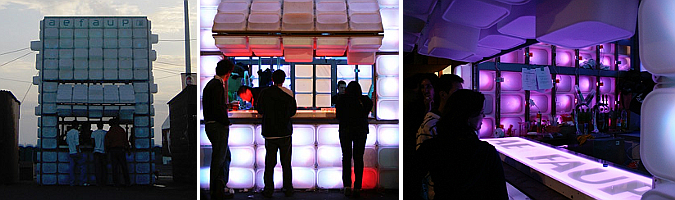 cubo de rubik bar -  temporary bar