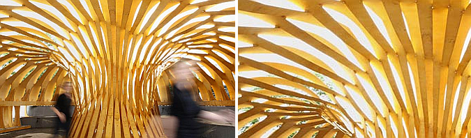 madera entrelazada - temporary research pavilion