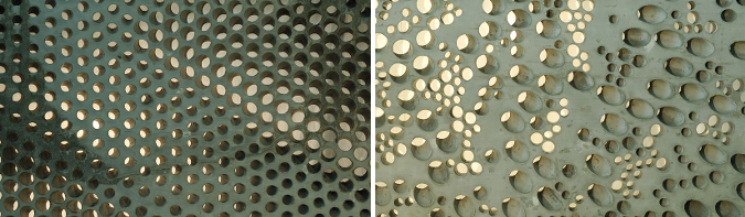 hormigón perforado - the perforated wall