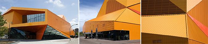 arquitectura, acero y color - theatre agora