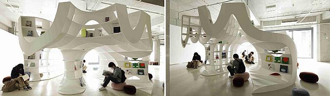 la cueva de los libros - toyo ito: cave of books, exhibition