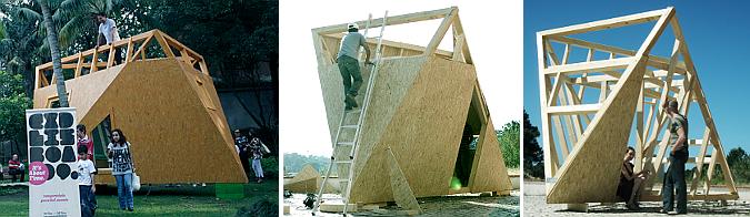 Judit bellostes en el jard n de la estrella treehouse for Pabellones arquitectura efimera