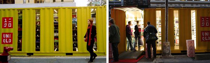 tienda contenedor itinerante - UniQlo container stores