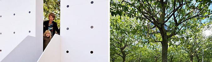 bosque de espejos - unlimited urban woods, temporary pavilion