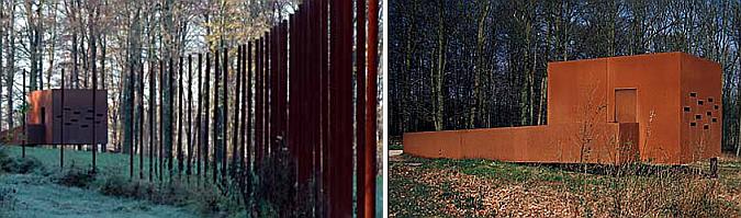 Judit bellostes de acero cort n varusschacht museum for Acero corten perforado oxidado