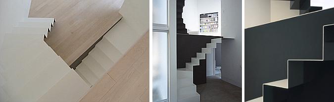 escaleras de metal - w.window house \ xxs house \ mountainside house