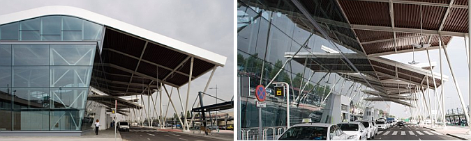 Judit bellostes olas de metal zaragoza airport terminal estudio de arquitectura - Estudio arquitectura zaragoza ...
